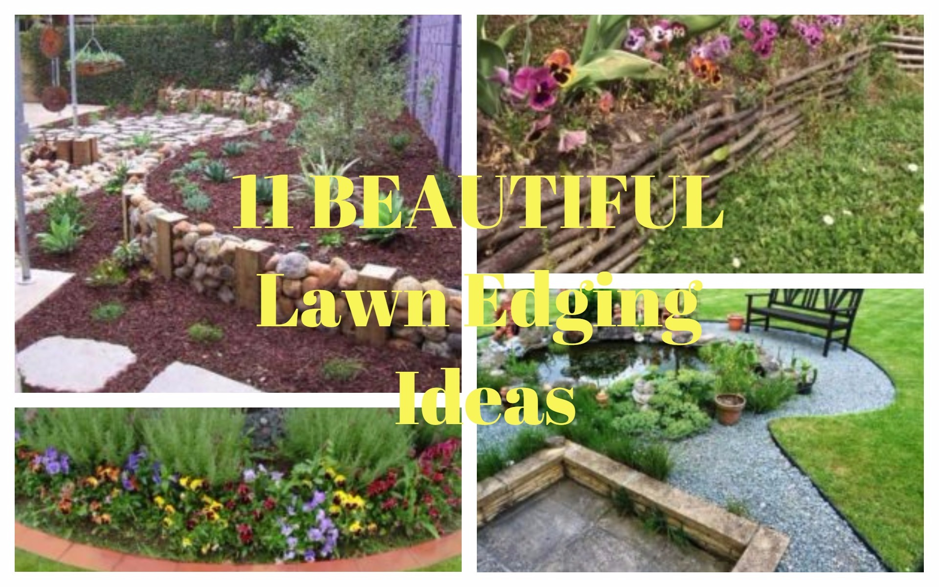 Top 10 Amazing Lawn Edging Ideas That Will Fascinate You