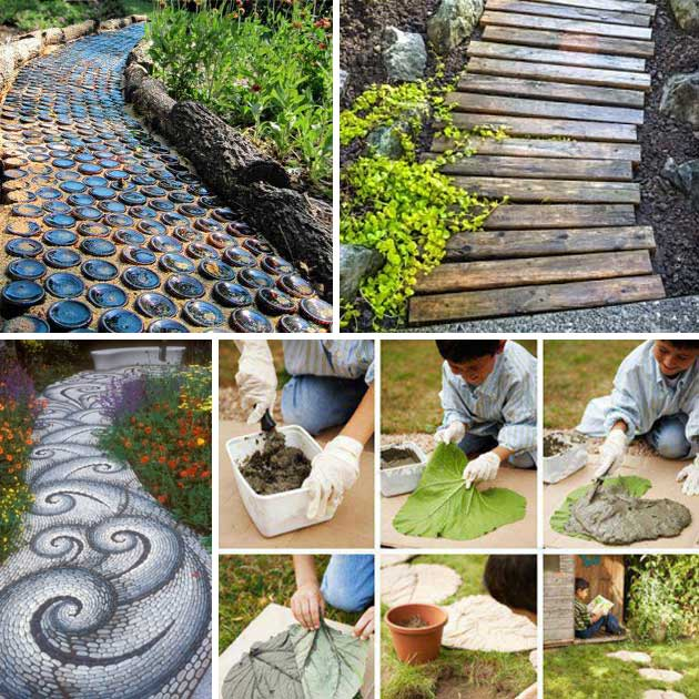 20 Lovely DIY Garden Pathway Ideas
