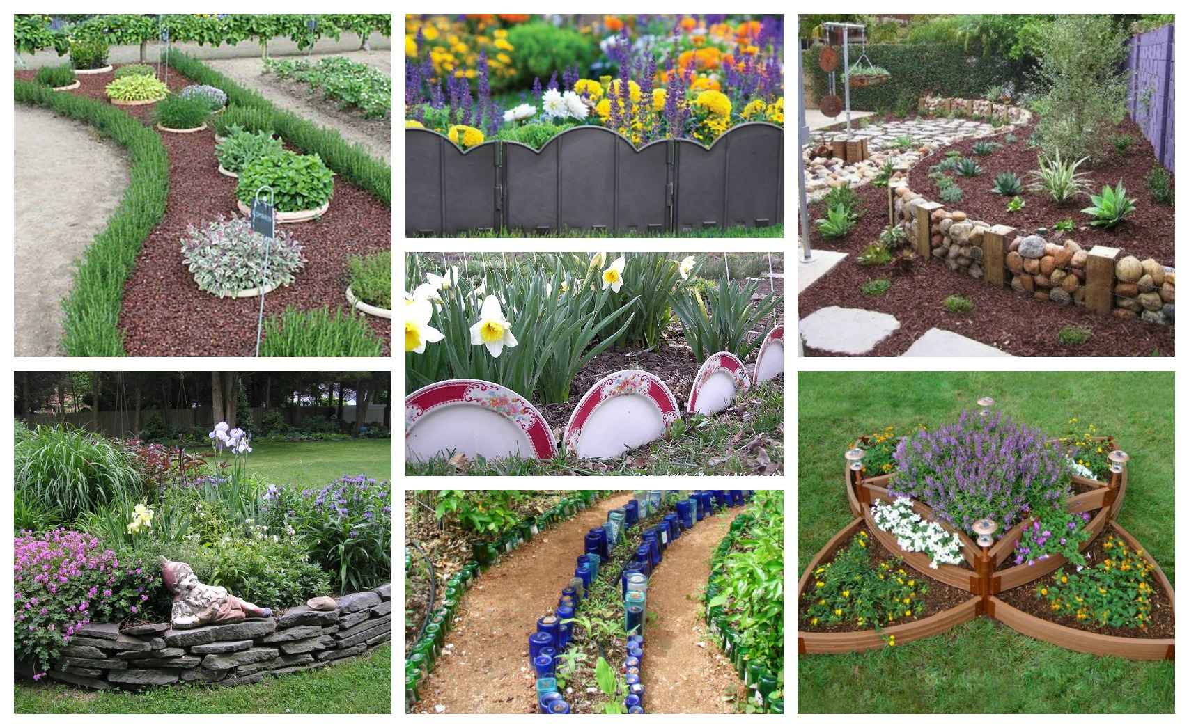 Splendid DIY Garden Bed Edging That Will Catch Your Eye