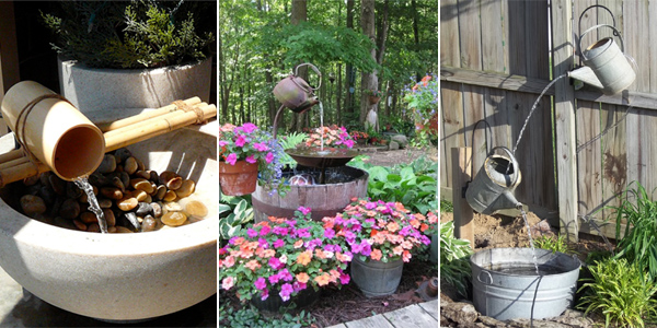 18 Fantastic Homemade Outdoor Fountains You Can Make YourSelf