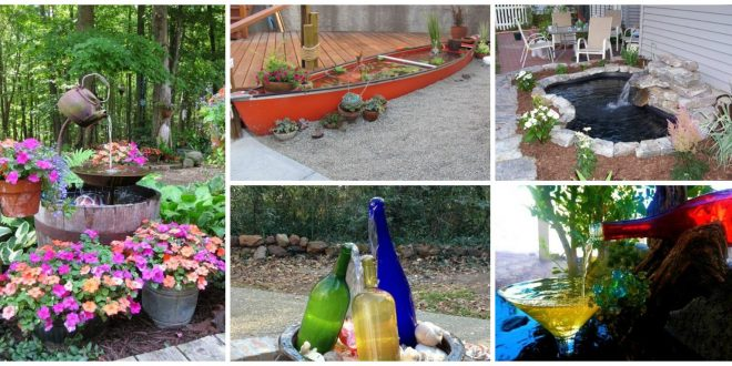 19 Creative DIY Water Features That Will Enhance Your Garden's Appearance