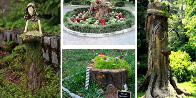 15 Ideas To Decorate Your Garden With These Gorgeous Tree Stumps