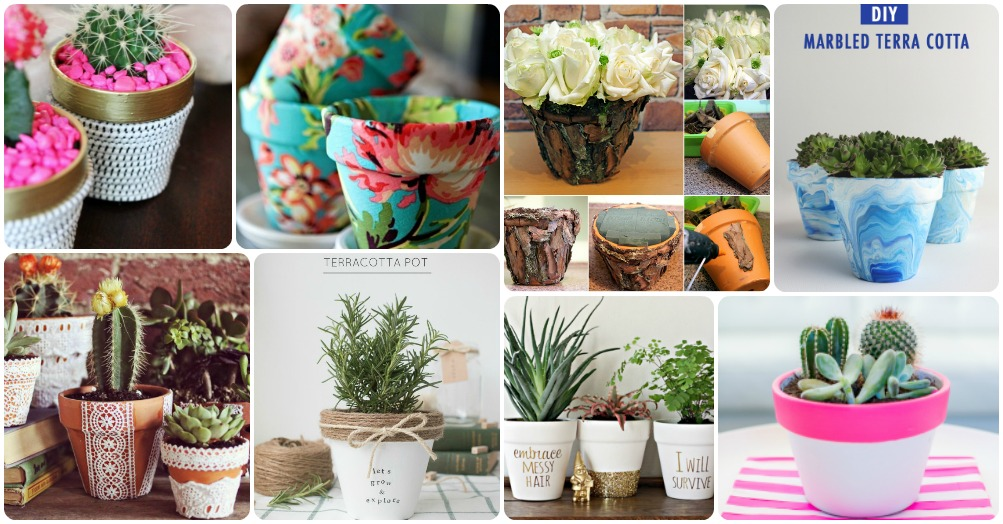 How To Completely Decorate Your Plain Clay Pot In Astonishing Ways