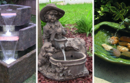 20 Wonderful Solar Water Fountain Ideas That Will Beautify Your Garden