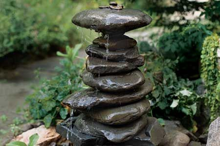 make a small garden fountain