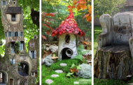 20 Ideas Using Tree Stumps To Decorate Your Garden