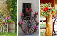 20 Magnificent Ways to Use Old Wagon Wheels In Your Garden