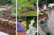 20 Splendid DIY Garden Bed Edging That Will Catch Your Eye