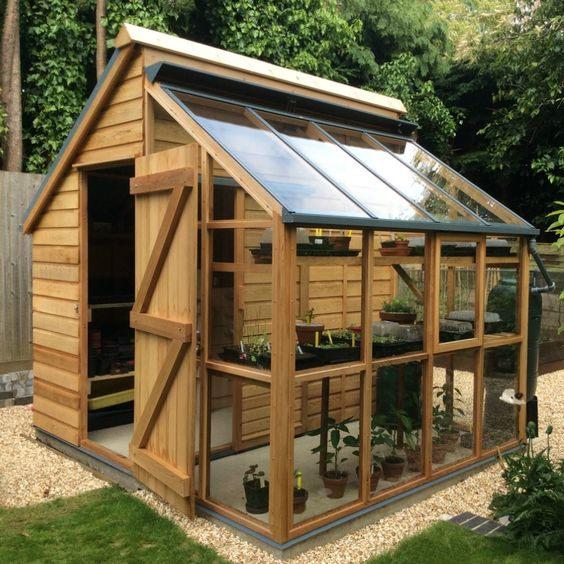 Greenhouse Storage Shed Combi