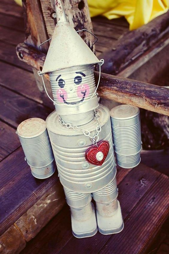 Amazing tin man - Metal Garden Art