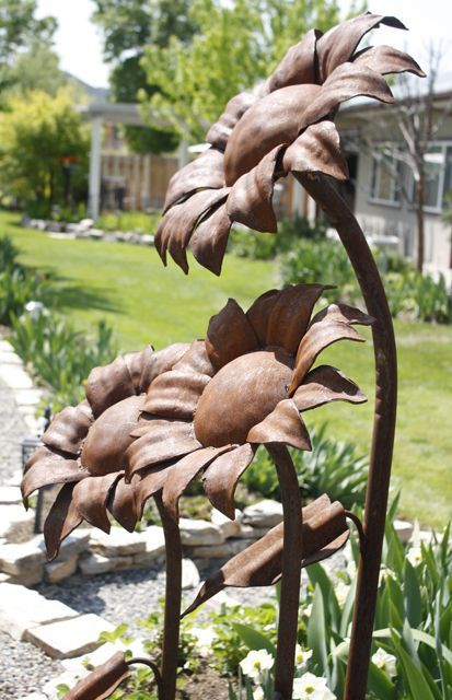 Beautiful Metal garden flower