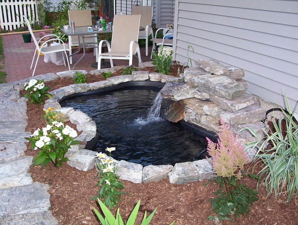 Inground backyard pond