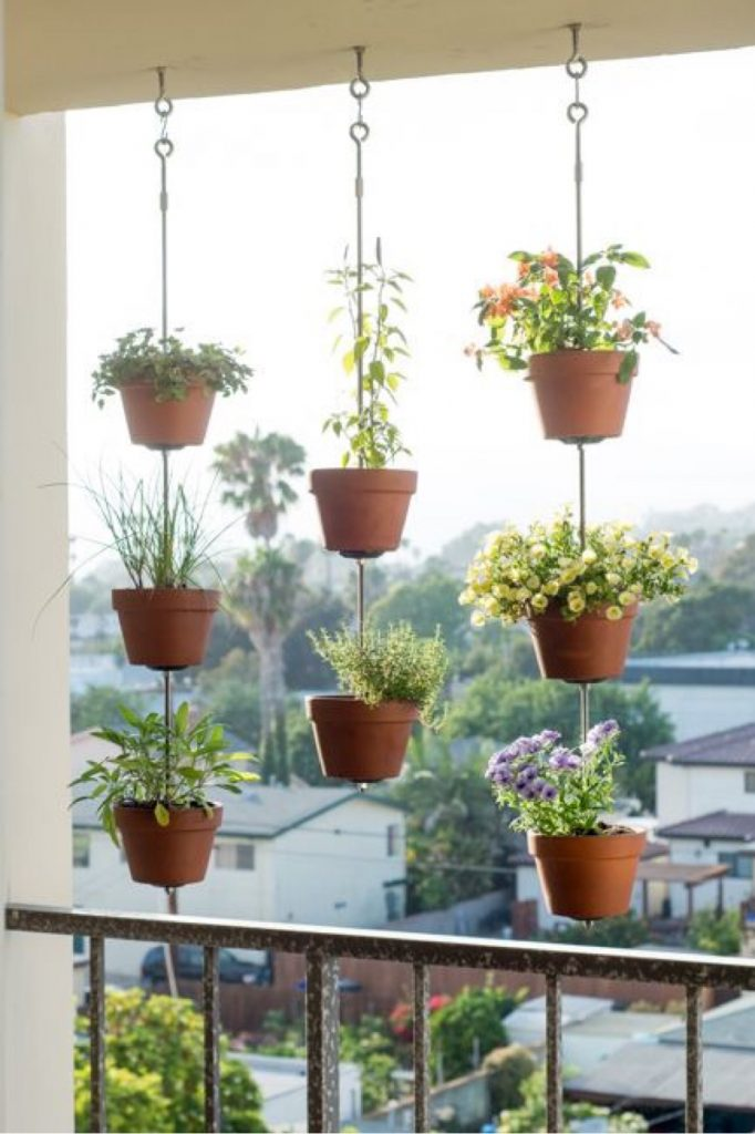 Hanging balcony garden idea