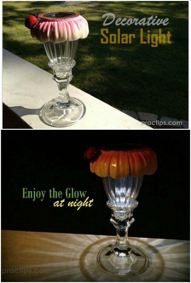 Decorative Upcycled Solar Light