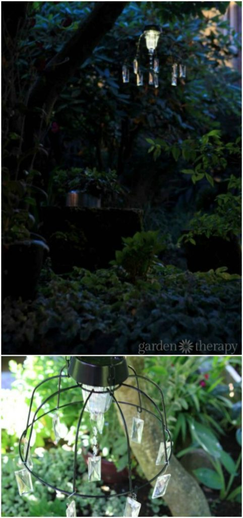 DIY Solar Fairy Chandelier