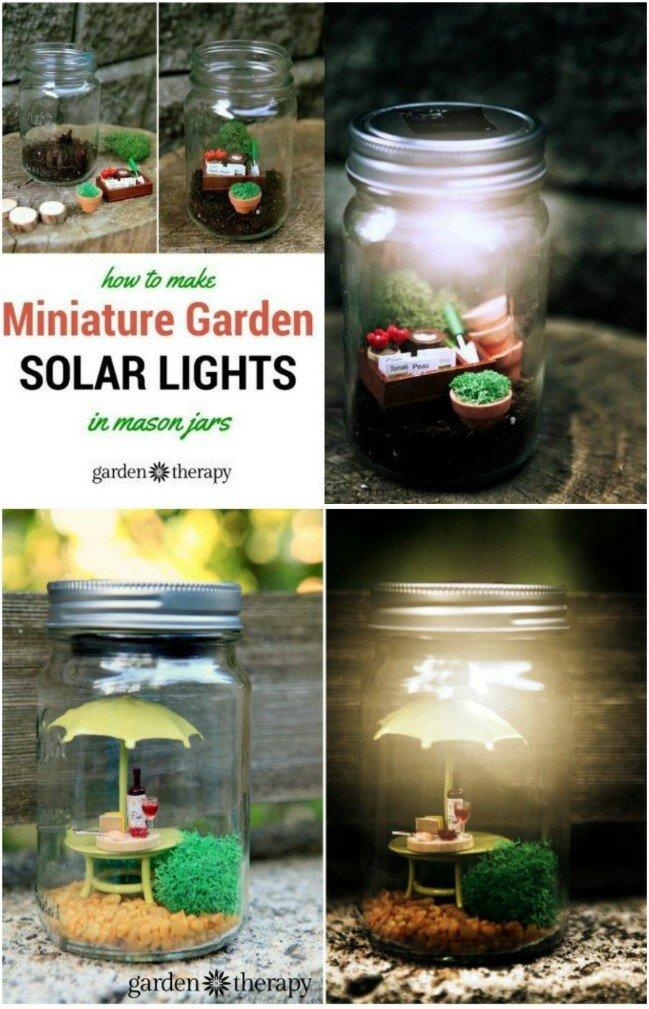 DIY Miniature Fairy Solar Jars