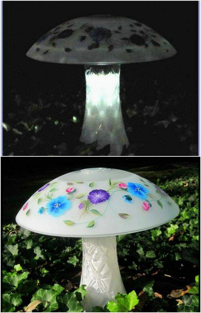 DIY Frosted Solar Mushroom