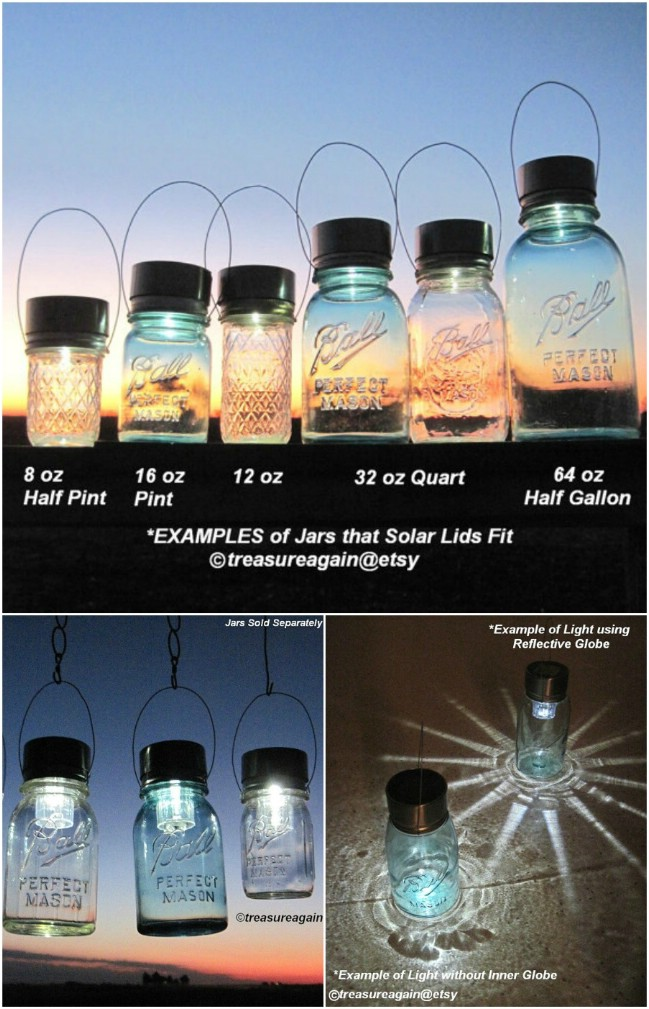 Frosted Mason Jar Hanging Lights