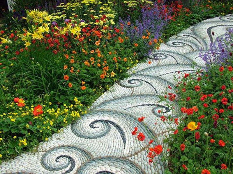 Mosaic Stone Pathway