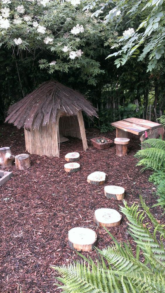 Cute Garden Playgrounds For Kids, Inexpensive Playground Ideas