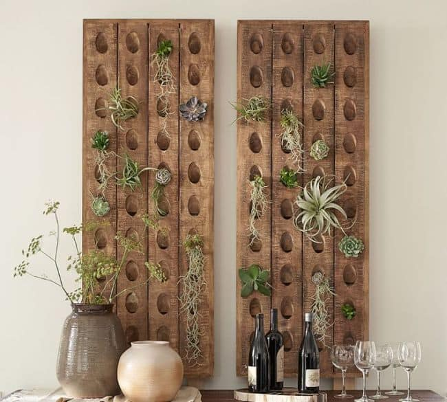 Wooden Rack Holder For Air Plant Display