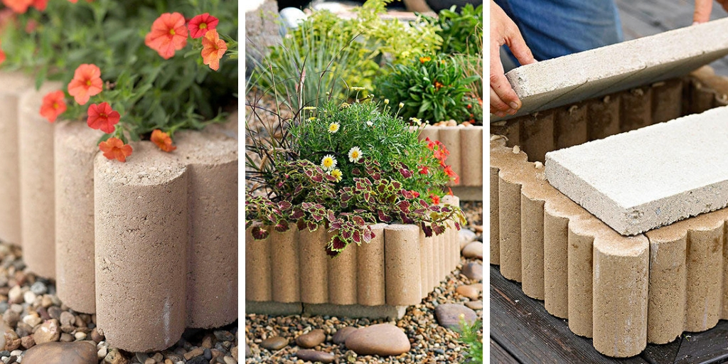 4 easy steps to create a concrete edge planter