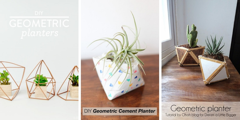 14 showy DIY Geometric Planters that will amaze you