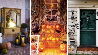 Beautiful Halloween decorations for both indoors and outdoors