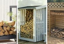 16 Decorative DIY Firewood Racks That You Can Easily Make