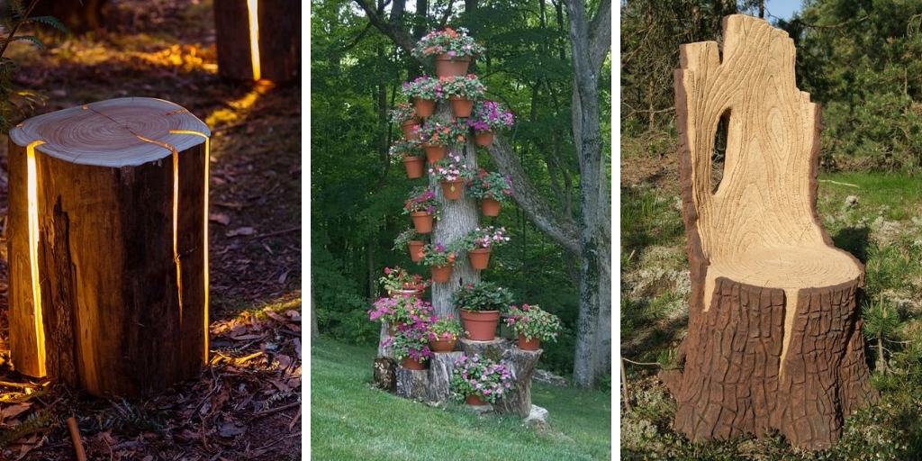 22 Creative Tree Stump Decorations That Will Blow Your Mind