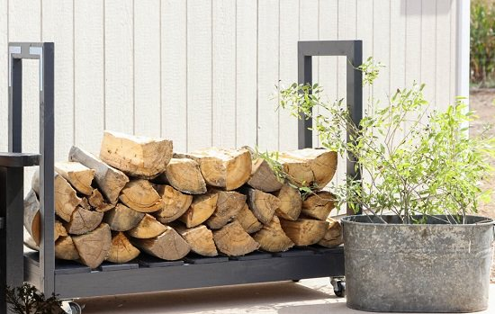 DIY Firewood Racks 10