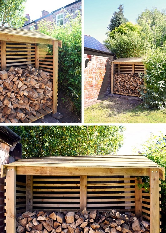 DIY Firewood Racks 11