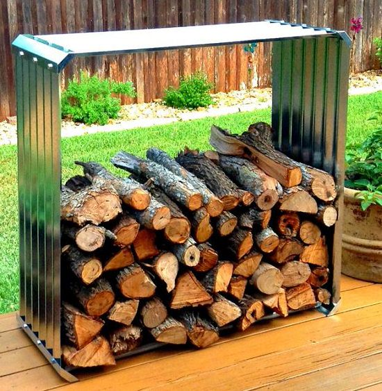 DIY Firewood Racks 12