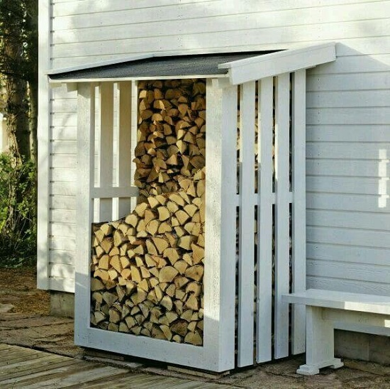 DIY Firewood Racks 13