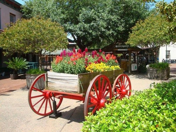 Magnificent Ways to Use Old Wagon Wheels In Your Garden 17